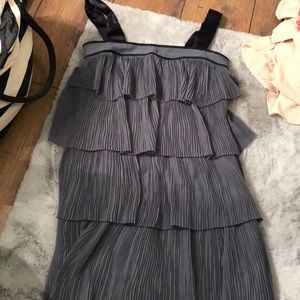 Blue ruffled French connection dress